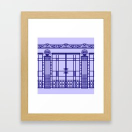 ART DECO, ART NOUVEAU IRONWORK: French Blue Framed Art Print