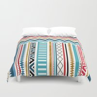 tribal Duvet Covers featuring Tribal by Kakel
