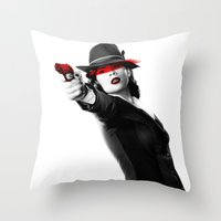peggy carter Throw Pillows featuring Peggy Carter by Long live the Evil Queen♔