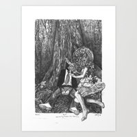 howl Art Prints featuring Howl by Deborah Panesar Illustration