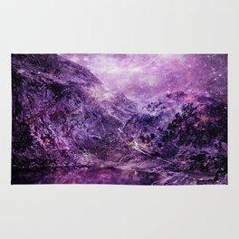 galaxy mountains Purple Rug
