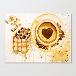 Caffee and cake Canvas Print