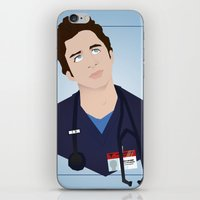 scrubs iPhone & iPod Skins featuring J.D. Scrubs-Let your mind soar like an eeeeeagle. by Violet's Corner