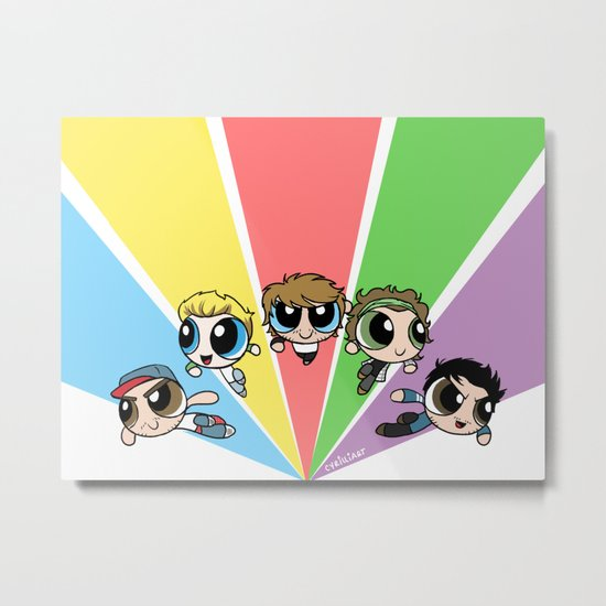 Powerpuff!Direction Metal Print