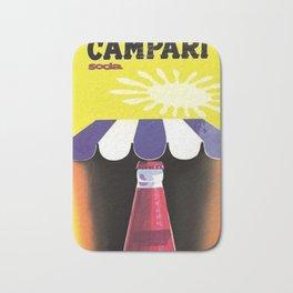 1960 Cordial Campari Italian Aperitif Advertising Poster Bath Mat