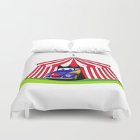clown Duvet Covers featuring Clown by Maestral