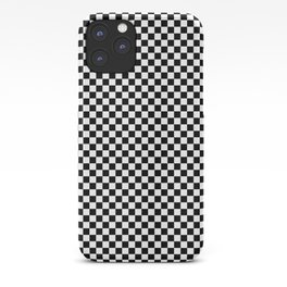 Black And White Checks Minimalist iPhone Case