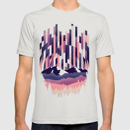 Sunrise in Vertical - Winter Purple T-shirt