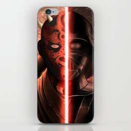 Darth Maul & Vader split iPhone Skin