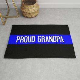 Police: Proud Grandpa (Thin Blue Line) Rug
