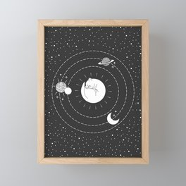 The Space Cat Framed Mini Art Print