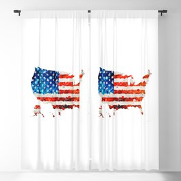 Map of The United States Of America 23 - Sharon Cummings Blackout Curtain