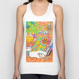 Boho suzanis and sunshine in Mexico Unisex Tank Top