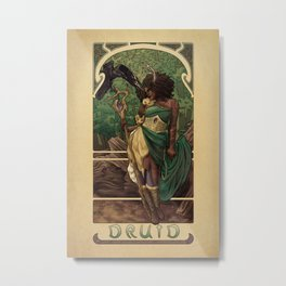 La Druide - The Druid Metal Print