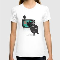 tv T-shirts featuring TV by BUBUBABA