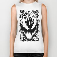 carnage Biker Tanks featuring carnage by Rebecca McGoran