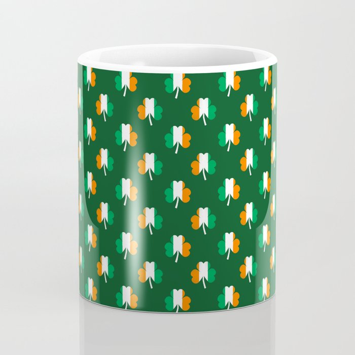 Irish Flag Green White Orange on Green St. Patrick's Day Ireland Coffee Mug