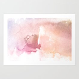 Color me Pink Water Color Art Print