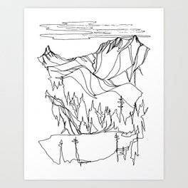 Hidden Alpine Lake Art Print