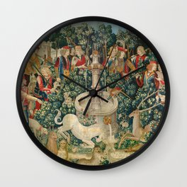 The Unicorn is Attacked (from the Unicorn Tapestries) 1495–1505 Wall Clock