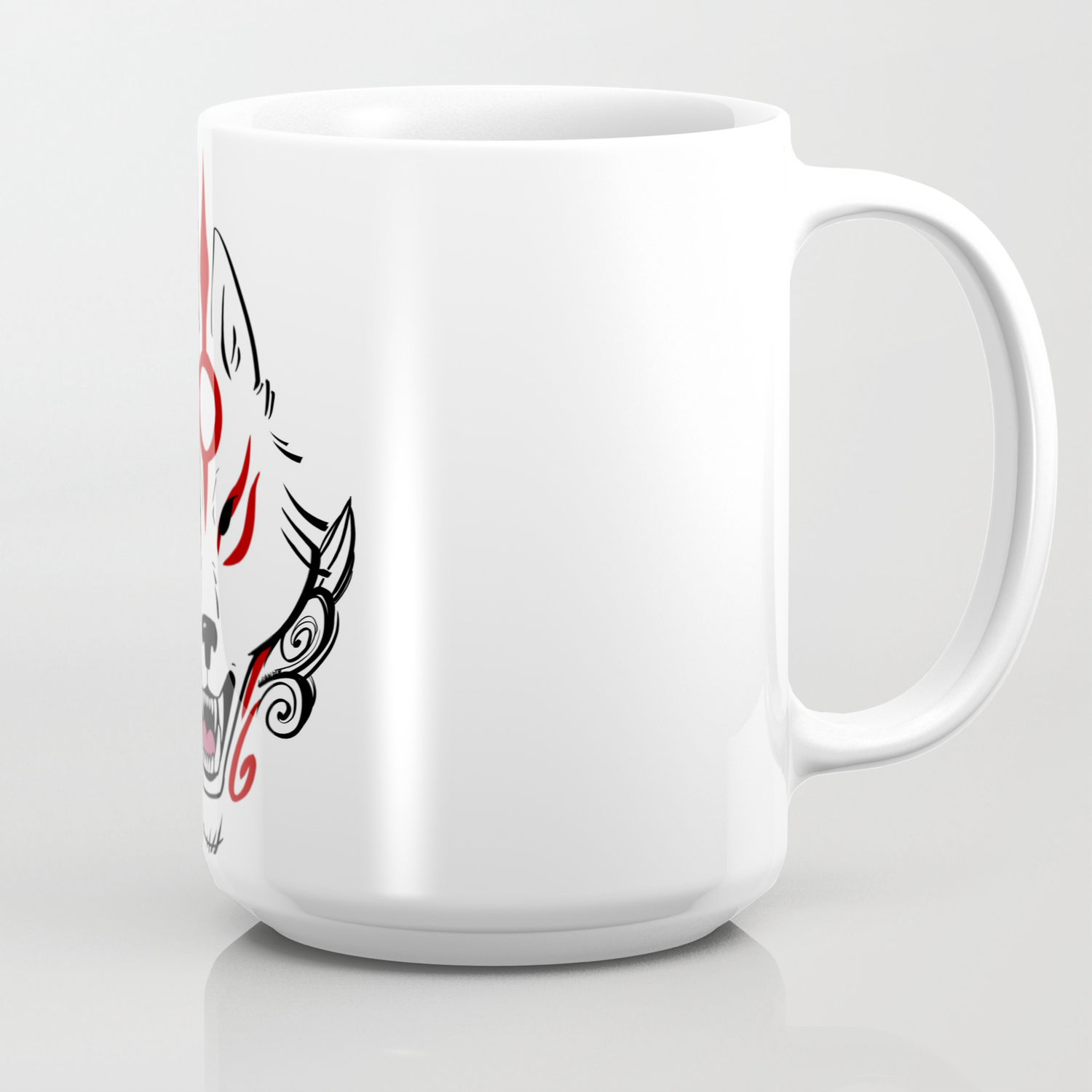 Okami Amaterasu Plain White Coffee Mug