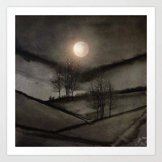 Calling The Moon II Art Print