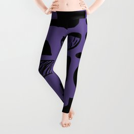 abstract figures on ultra violet background Leggings