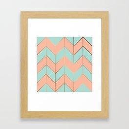 Marble Geometry 059 Framed Art Print