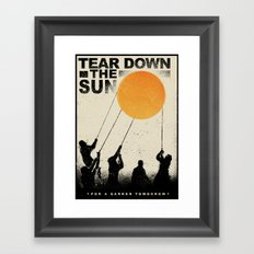 Tear Down the Sun Framed Art Print