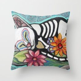 Buffy Day of the Dead Cat Throw Pillow