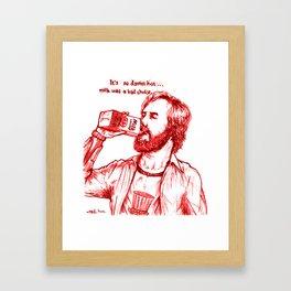 Anchorman: Milk was a Bad Choice Framed Art Print