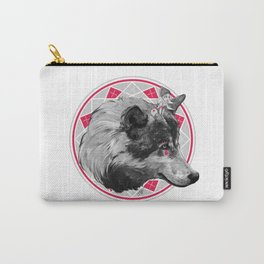 Wild Child - Pink Wolf Carry-All Pouch