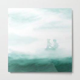 Hidden - Green Mist Metal Print