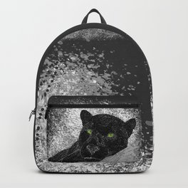 Black panther on a branch - Grey Backpack