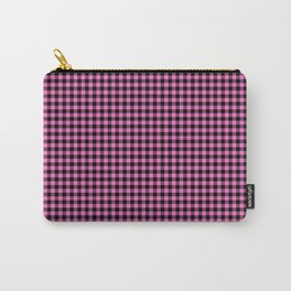 Mini Black and Pink Cowboy Buffalo Check Carry-All Pouch