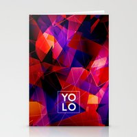 sayings Stationery Cards featuring Dreams of YOLO Vol.2 by HappyMelvin