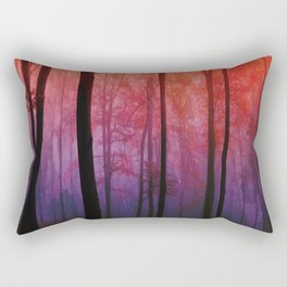 Whispering Woods, Colorful Landscape Art Rectangular Pillow