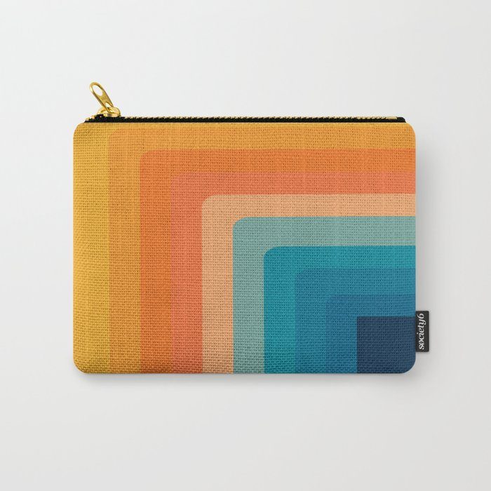 Retro 70s Color Lines Carry-All Pouch