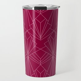 Art Deco in Raspberry Pink Travel Mug