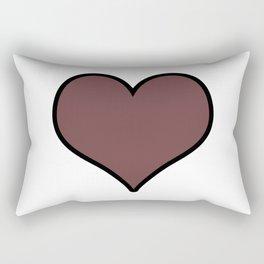 Pantone Red Pear Heart Shape with Black Border Digital Illustration, Minimal Art Rectangular Pillow