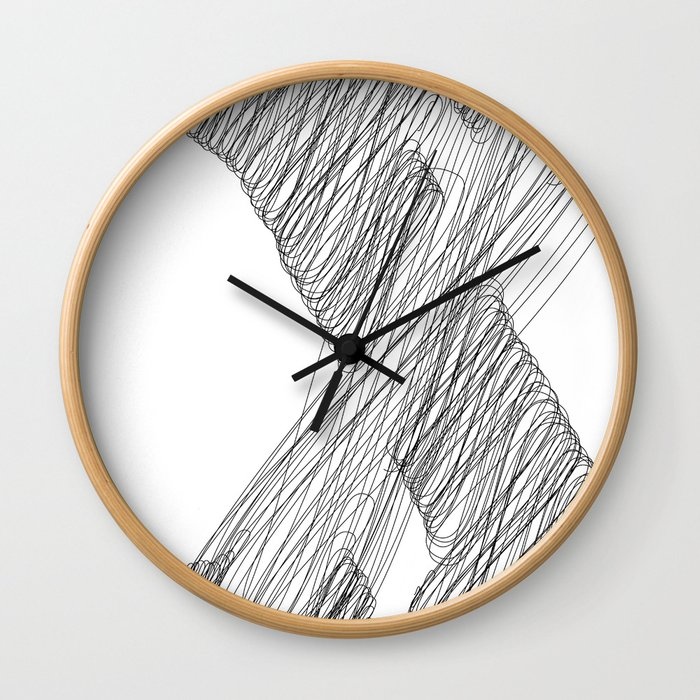 """ Cloud Collection "" - Minimal Letter X Print Wall Clock"