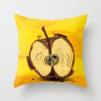 "lebron Throw Pillows featuring ""The Big Apple""  by SaintCastro"
