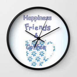 Friends And Coffee Wall Clock