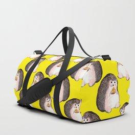 Hedgehog eating pizza Duffle Bag