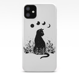 Night Garden Cat iPhone Case