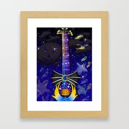 Fusion Keyblade Guitar #132 - Pumpkinhead & Star Seeker Framed Art Print