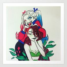Harley and Ivy Art Print