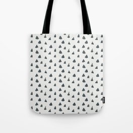 Hand painted black gray watercolor geometrical triangles Tote Bag