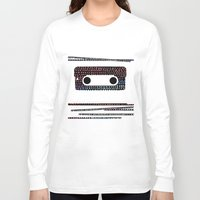 cassette Long Sleeve T-shirts featuring ANALOG - CASSETTE by Verene Krydsby