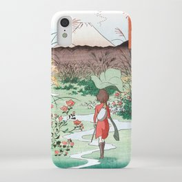 Arrietty Japanese woodblock mashup iPhone Case